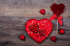 Valentine's Day candies Royalty Free Stock Photography