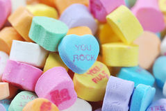 Valentine's day candies and letters Stock Photo