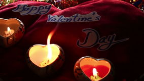 Valentine's day with candlelight. Dolly shot stock video footage