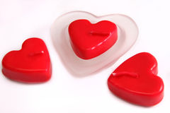 Valentine's Day candles Stock Images