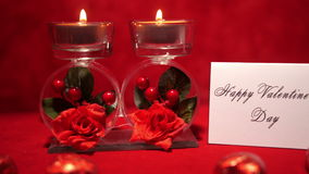 Valentine's Day Candles and Candies 4K. Valentine Day Candles and Candies stock video footage