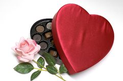 Valentine's Day candy heart and rose Royalty Free Stock Photography
