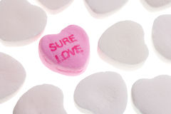 Valentine's Day Candy Hearts. Isolated on White Background stock image