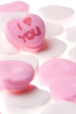 Valentine's Day Candy Hearts Stock Images