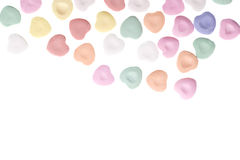 Valentine's Day Candy Hearts. Isolated on White Background royalty free stock images