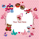Valentine's Day card. Vector drawing Stock Images