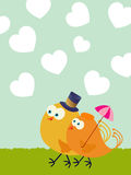 Valentine's Day card. Valentine's Day greeting card with love birds Stock Images