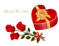 Valentine`s day card. Stock Photography