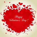 Valentine's Day card. Hearts frame for valentine's day greeting card Royalty Free Stock Photography