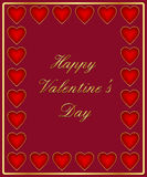 Valentine's day card. Decorated with hearts Stock Image