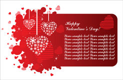 The Valentine's day card Royalty Free Stock Images
