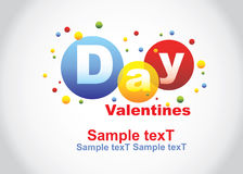 The Valentine's day card Royalty Free Stock Photos