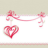 Valentine`s day card Royalty Free Stock Image