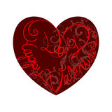 Valentine's day card,  Royalty Free Stock Photo