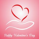 Valentine's Day card. With greetings. Vector Stock Photos