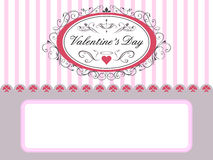 Valentine\\\'s Day Card Royalty Free Stock Photography