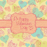 Valentine´s Day card Stock Images