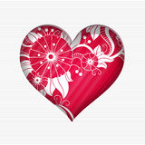 Valentine`s day card Stock Image