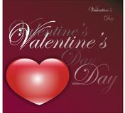 Valentine's day card. Red valentine's day card white text Royalty Free Stock Images