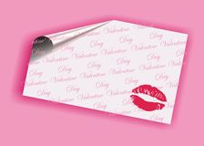 Valentine's day card. Pink valentine's day card with pink text Stock Photo