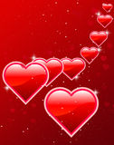 Valentine's day  card and background Royalty Free Stock Images