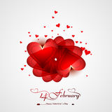 Valentine's day card background for celebration colorful Stock Photography