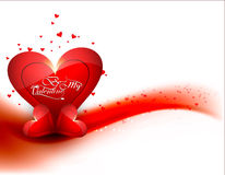 Valentine's day card background for colorful shiny heart Stock Photos