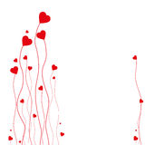 Valentine's Day Card. Background for a Valentine's Day card with hearts Stock Image