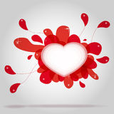 Valentine's Day Card. Background for a Valentine's Day card with hearts Stock Images