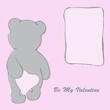 Valentine`s Day Card with Bear Royalty Free Stock Images