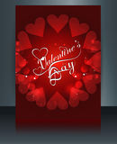 Valentine's day card beautiful heart reflection brochure Royalty Free Stock Images