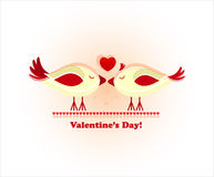 Valentine's day card with bird Royalty Free Stock Photo