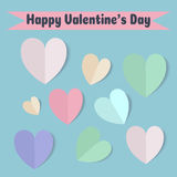 Valentine`s day card Royalty Free Stock Photography