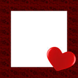 Valentine's Day card border. A Valentine's day card and border with a heart Royalty Free Stock Photos
