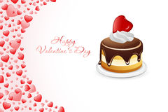 Valentine's Day Card with Cake Royalty Free Stock Photo