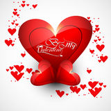 Valentine's day card with colorful hearts concept background Stock Image