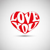 Valentine's Day Card or Cover Design Royalty Free Stock Image