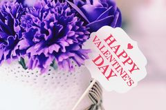 Valentine`s day card and decoration. Stock Photography