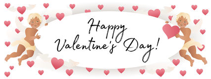 Valentine`s day card decoration. Vector. Royalty Free Stock Photo