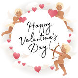 Valentine`s day card decoration. Vector. Stock Photography
