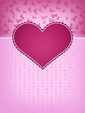Valentine's Day Card Design Stock Photography