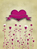 Valentine's Day Card Design Royalty Free Stock Photography