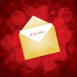 Valentine's day card design Stock Image