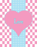 Valentine's day card design Royalty Free Stock Images