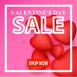 Valentine`s day card design Royalty Free Stock Photography