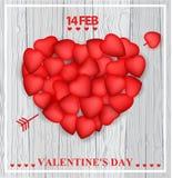 Valentine`s day card design Stock Image