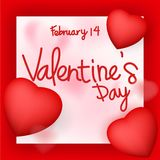 Valentine`s day card design Royalty Free Stock Image