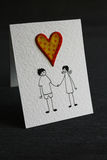 Valentine`s Day Card Stock Images