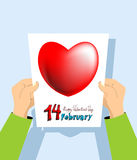 Valentine's Day card. February 14th. Royalty Free Stock Photography