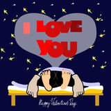 Valentines Day Card, a funny Stock Image
